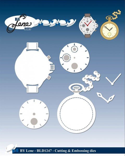 Stanzdie & Embossing Set - Uhren