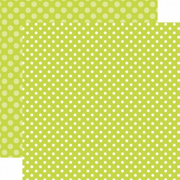 Echo Park Paper Dots & Stripes Key Lime Dot