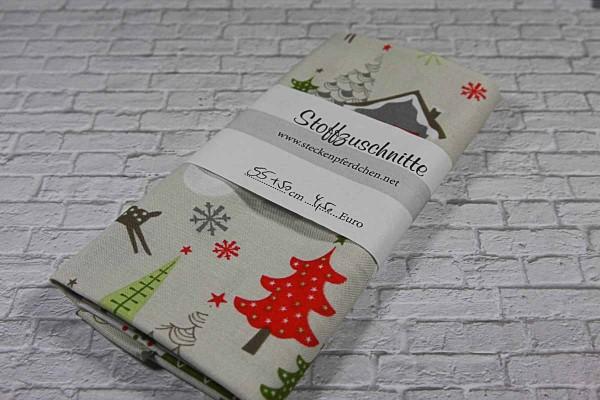 fatquarter Riley Black Design a merry little christmas Winterwald