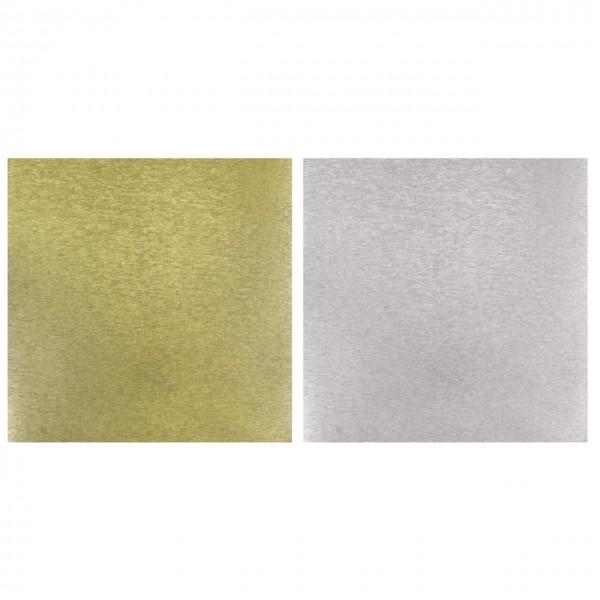 Rayher Papier Metalleffekt gebürstet silber/gold