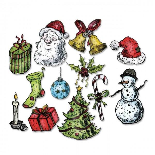 Sizzix Tim Holtz Framelits tattered Christmas
