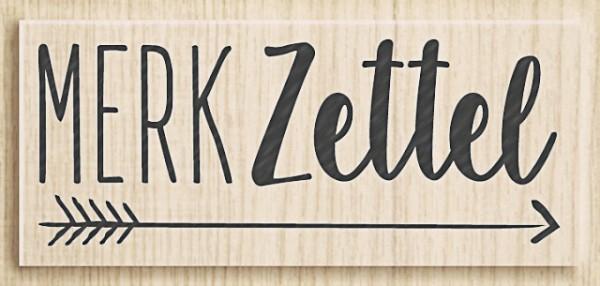 Heyda Holzstempel Merk Zettel