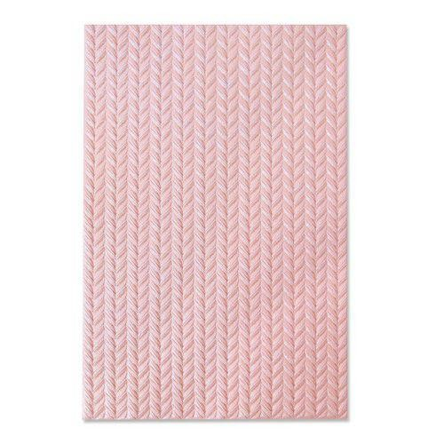 Sizzix 3-D Embossing Folder - Knitted