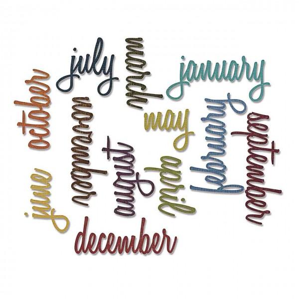 Sizzix Thinlitz Tim Holtz Calendar Words Script