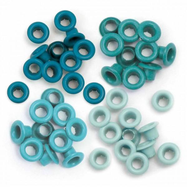 We R memory keepers Standard Eyelets Aqua