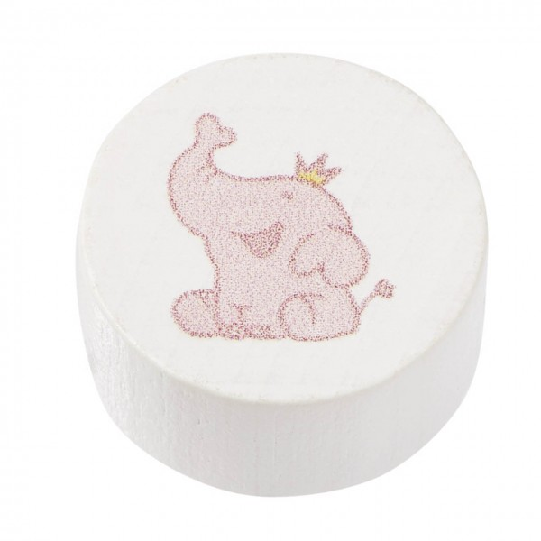 Schnulli-Scheibe Elefant rosa