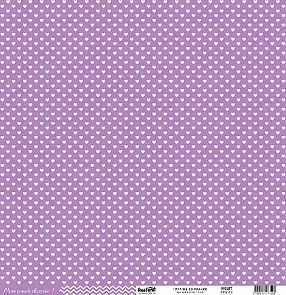 Kesi Art Mon coeur chavire Herzen violett