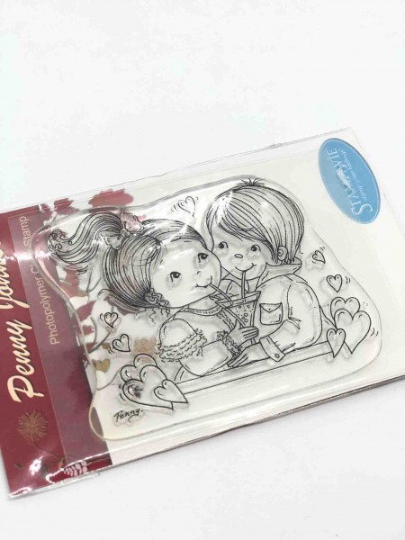 Penny Johnson Clear Stamp NEW! Love bubbles