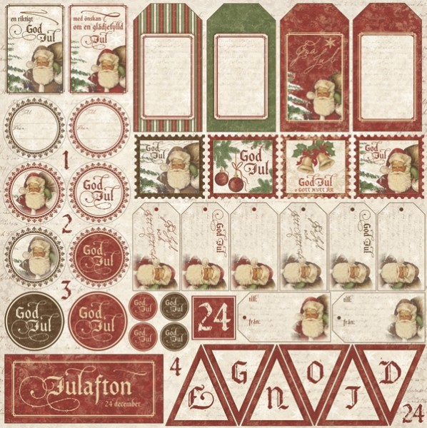 Maja Design It`s Christmas Time Die cut sheet