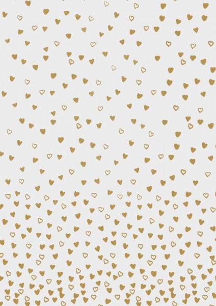 Rössler Transparentpapier tanzende Herzen gold