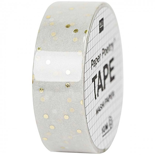 Rico Paper Poetry Tape Punkte grau/gold