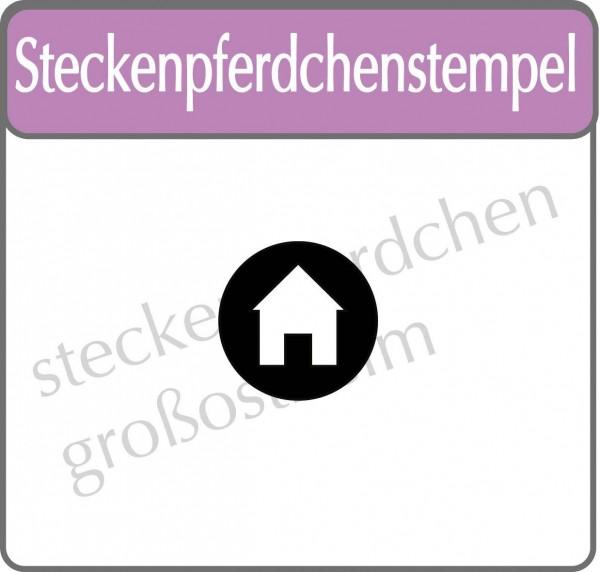 Steckenpferdchenstempel Haus