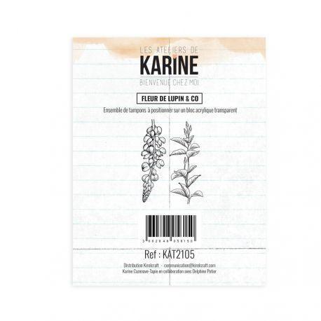Les Ateliers de Karine Bienvenue chez moi Clearstempelset - fleur de lupin & co