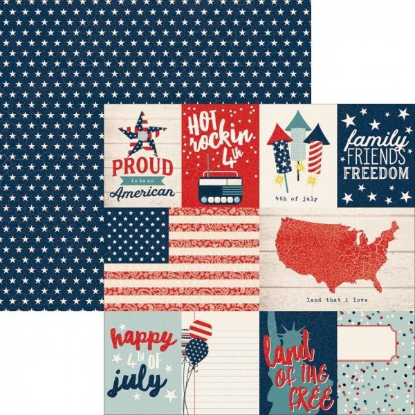 Simple Stories All American Journaling Card Elements