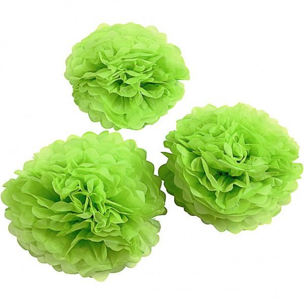 Tissue Pompons frühlingsgrün