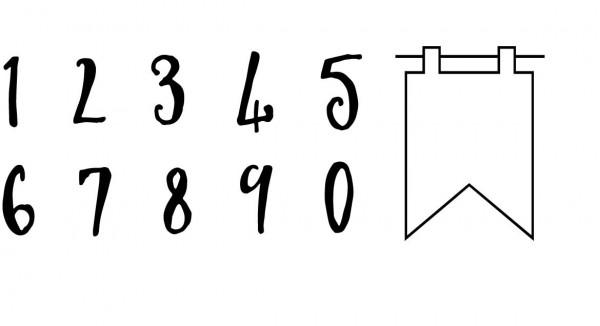 Eigendesignstempel Clearstempel Zahlen 2