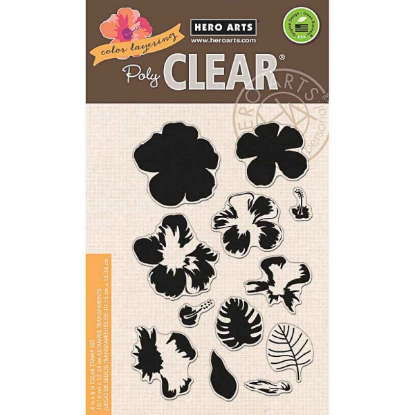 Hero Arts Clearstempel Color Layering Hibiscus