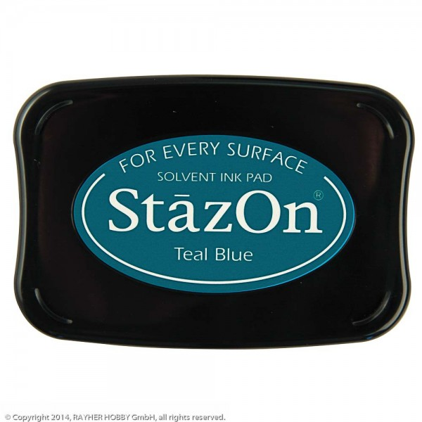 Tsukineko StazOn Teal Blue