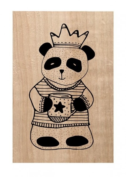 Chou & Flowers Holzstempel MR Panda