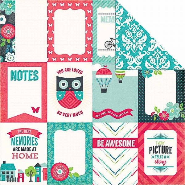 Echo Park We are Familiy 3 x 4 Journaling Cards
