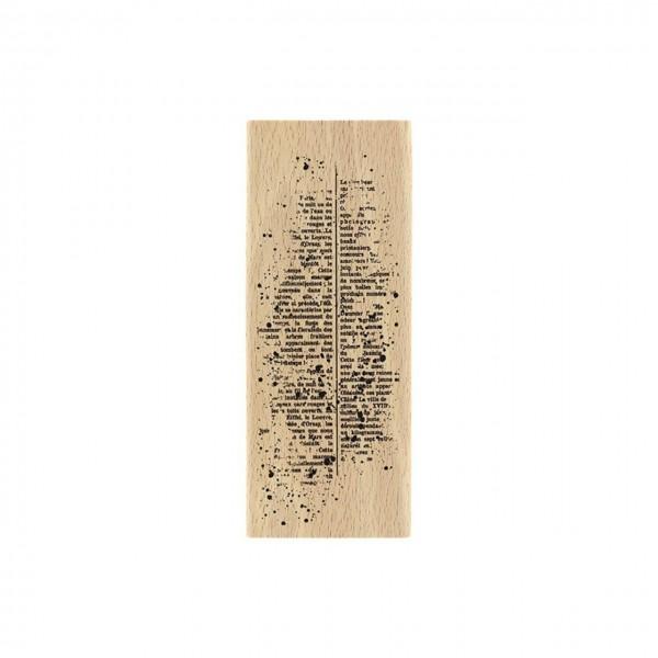 Florileges Holzstempel Texte mouchete`