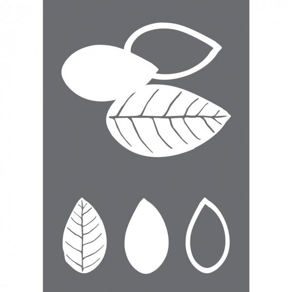 Rayher Siebdruck-Schablone Blätter A4