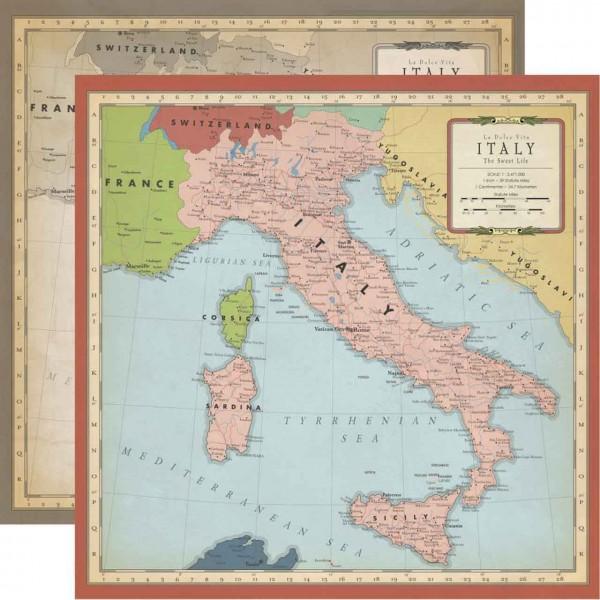 Carta Bella Cartography No. 1 Italy Map