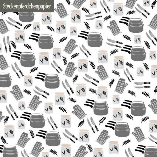 Steckenpferdchenpapier Küche 2