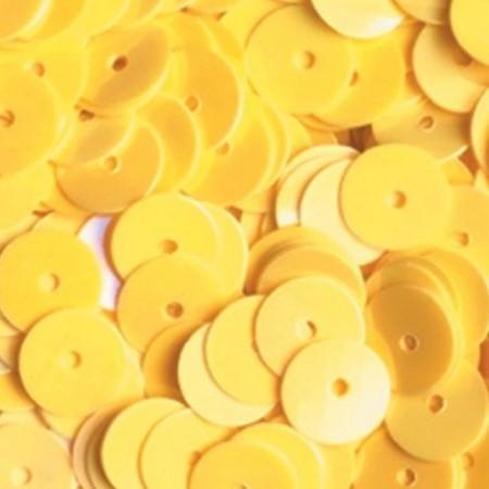 Pailletten rund flach gelb