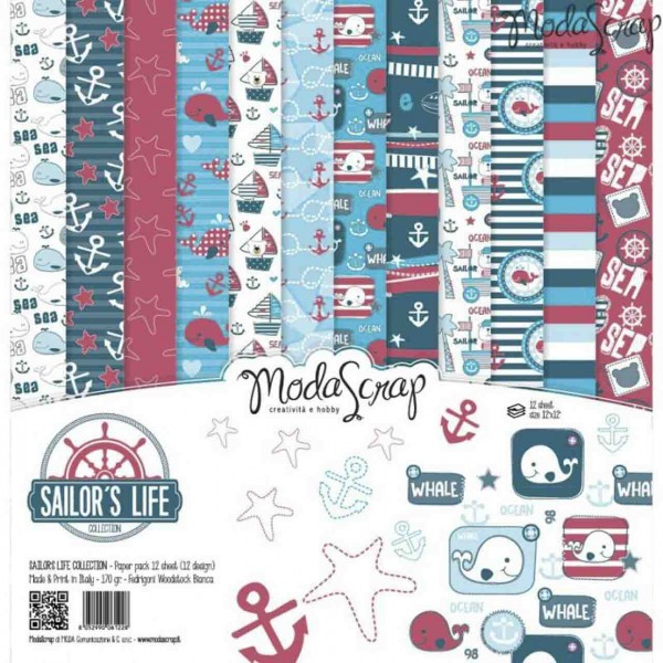 Moda Scrap Paper Pack Sailors Life