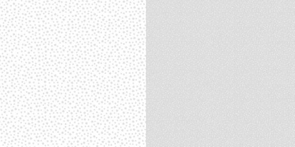 Dini Design Papier kleine Punkte/Blumen Silbergrau