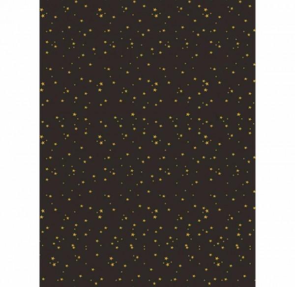 Decopatch Papier Sterne gold/schwarz