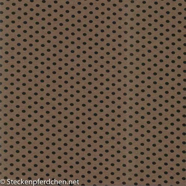 Baumwolljersey Kito meliert braun-schwarz gepunktet