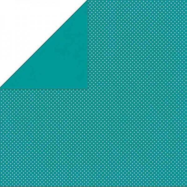 Bo Bunny Turquoise Double Dot