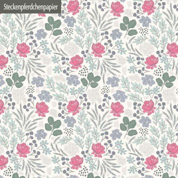 Steckenpferdchenpapier Blumenliebe 1