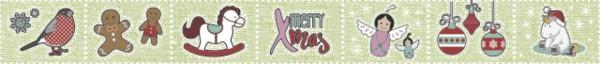 Heyda Deko Tape Merry X-Mas grün