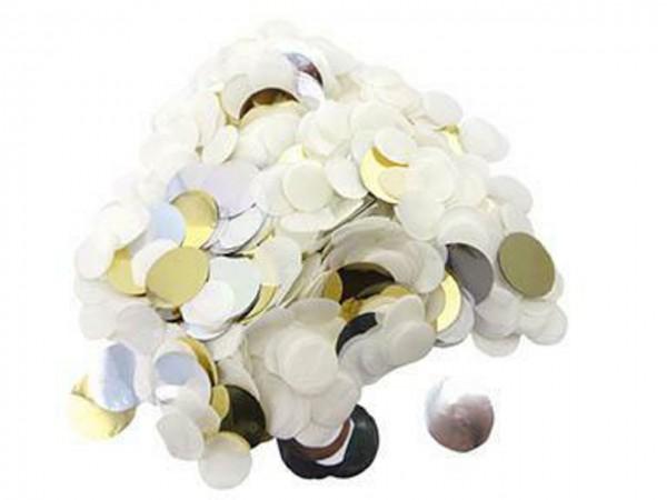 Rico Konfetti mix weiß/gold/silber