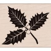 Hero Arts Holzstempel Poinsettia W/Berries