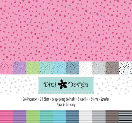 Dini Design Papierset Sterne/Streifen