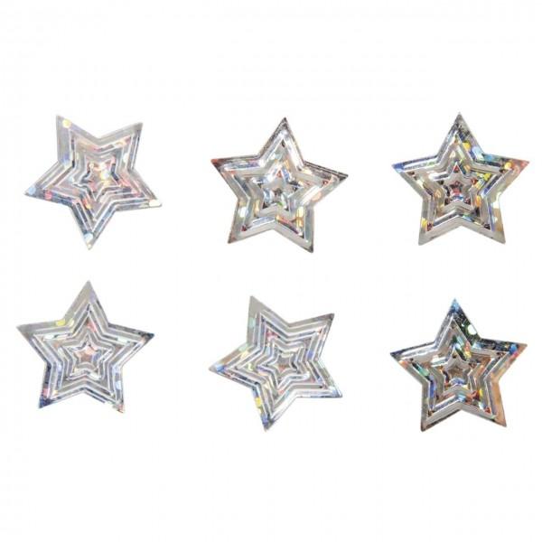 Rayher Pailletten Steuteile Sterne silber irisierend