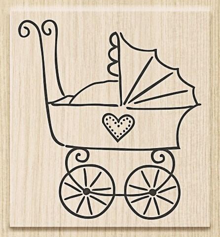 Knorr Prandell Holzstempel Kinderwagen