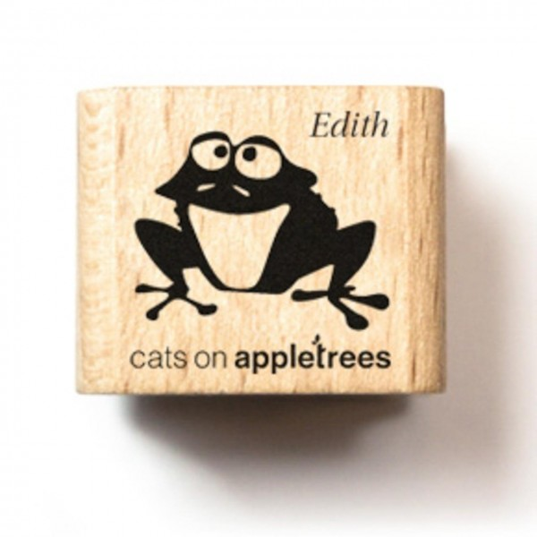 cats on appletrees Holzstempel Frosch Edith