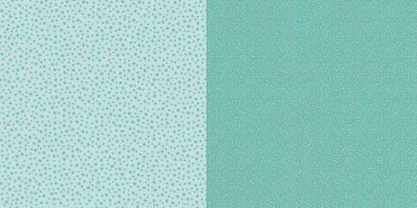 Dini Design Papier kleine Punkte/Blumen Mintgrün