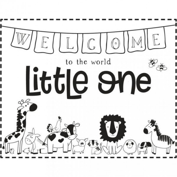 Holzstempel welcome little one