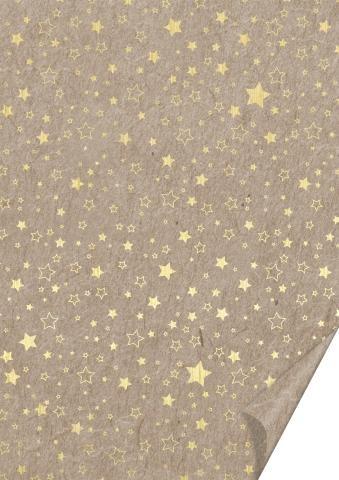 Naturkarton Sterne gold
