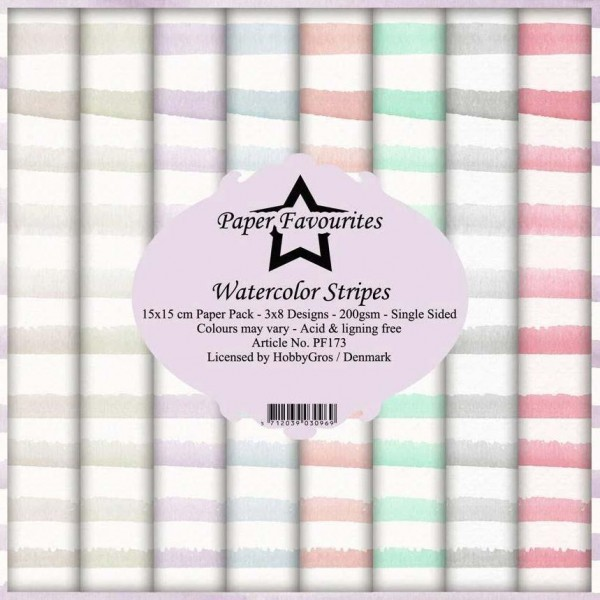 Paper Pack 6 inch Watercolor Stripes