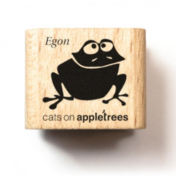 cats on appletrees Holzstempel Frosch Egon