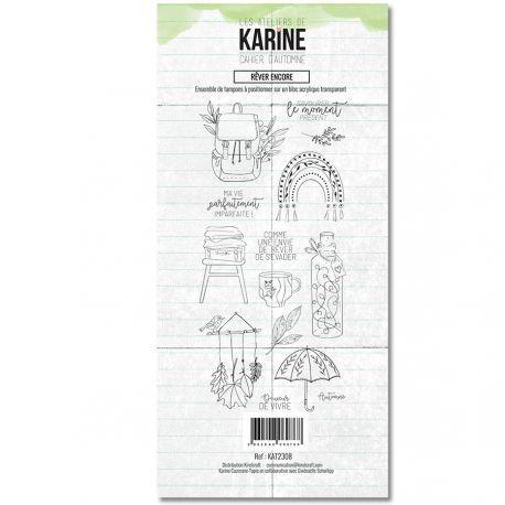 Les Atelier de Karine Cahier D`Automne Clearstempelset - Rever Encore