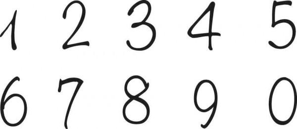 Eigendesign Clearstempel Zahlen 1