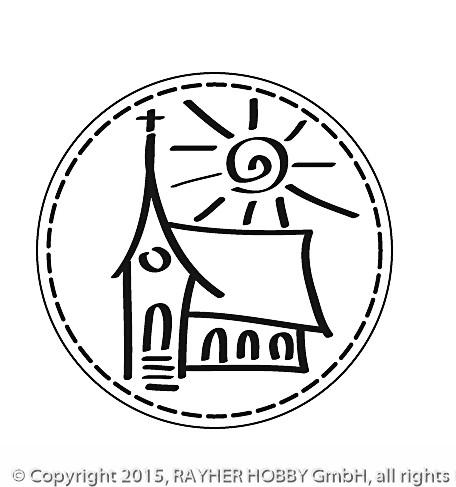 Stempel Kirche, 3cm ø